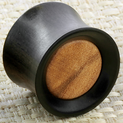 Ebony Wood with Olivewood Inlay Plug