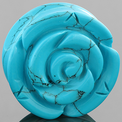 Synthetic turquoise rose plug