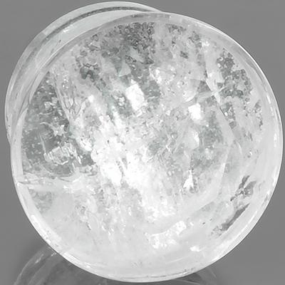 Single flare faceted quartz plug