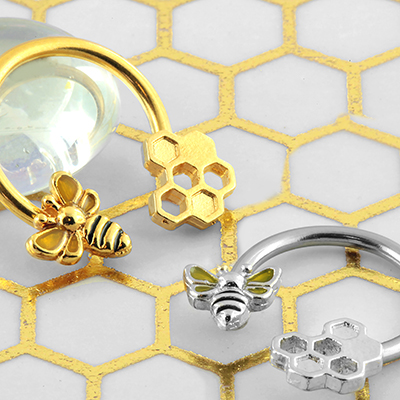 Bee and Honeycomb Circular Barbell