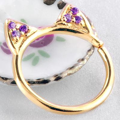 14k gold Meow ring