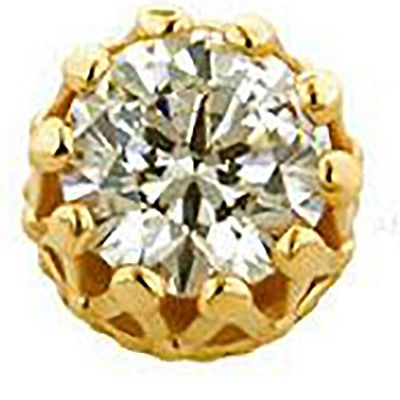PRE-ORDER 18k Gold King End