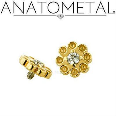 PRE-ORDER 18k Gold Dazy Threaded End