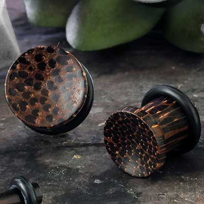 Single Flare Concave Wood Plug