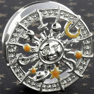 Double flare celestial sunburst plugs