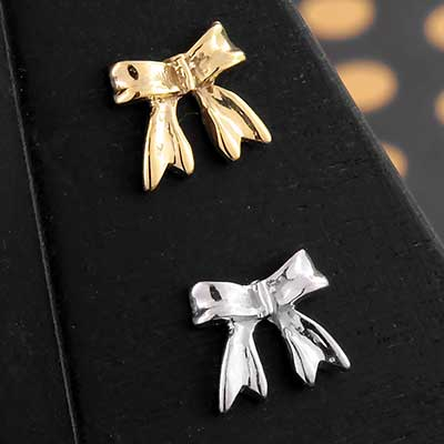 Solid 14k Gold Bow Threadless End
