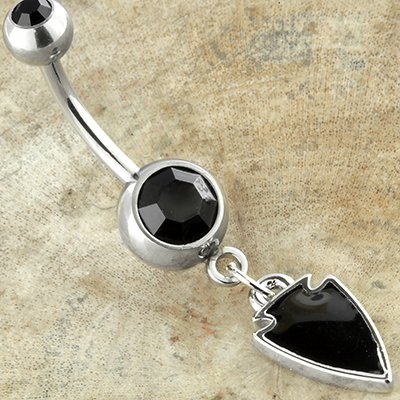 Black Arrowhead Navel