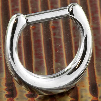 Polished steel septum clicker