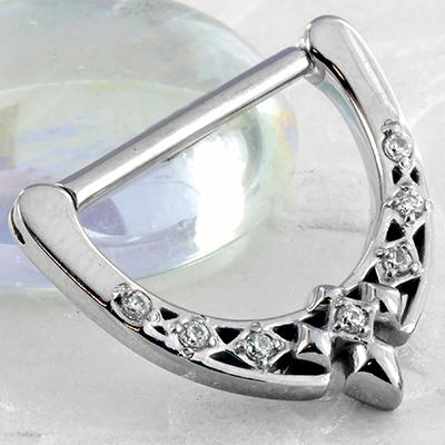 Gemmed diamond nipple clicker