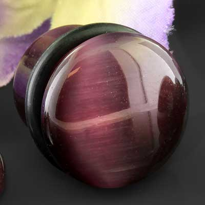 Single Flare Purple Cat Eye Plug