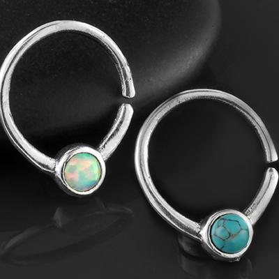 Silver Cabochon Seamless Ring
