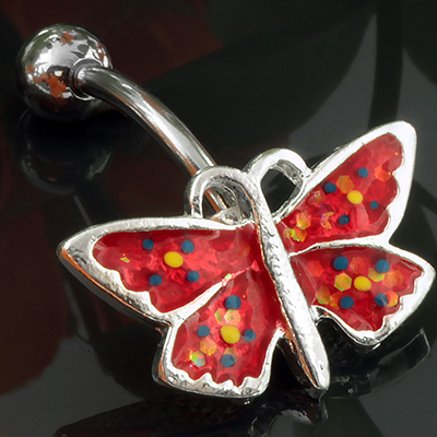 Top down butterfly navel