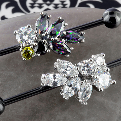 Gemmed Leaf Industrial Barbell Set