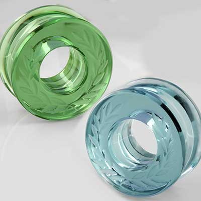Glass Solid Color Laurel Eyelets