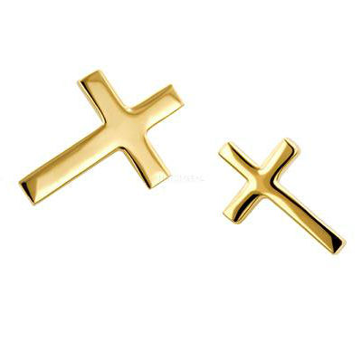 PRE-ORDER 18k Gold Cross End