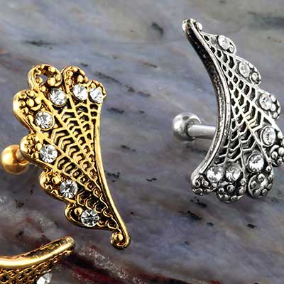 Ornate Feather Barbell