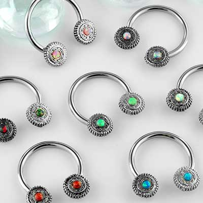 Opal sun circular barbell