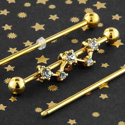 Gem constellation industrial barbell set