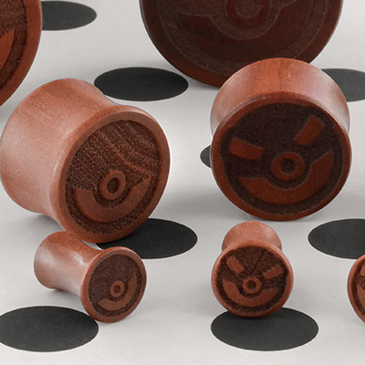 Bloodwood Pokemon Ball Plugs