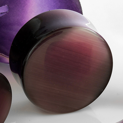 Purple cat eye plugs