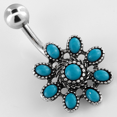Turquoise daisy navel