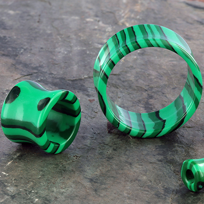Synthetic Malachite Eyelet