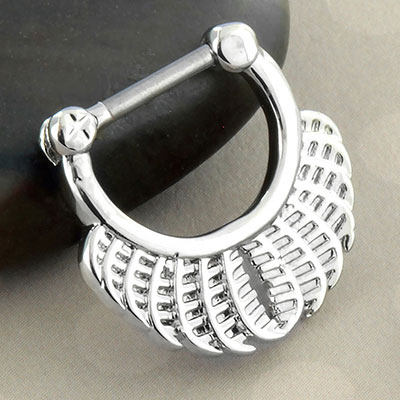 Feathered Fan Clicker Ring