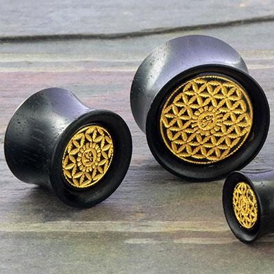 Ebony seed of life plug