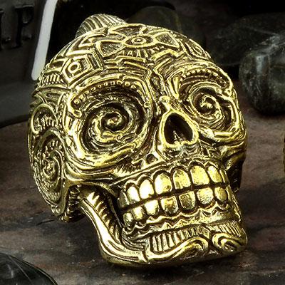 Brass Sugar Skull Weights