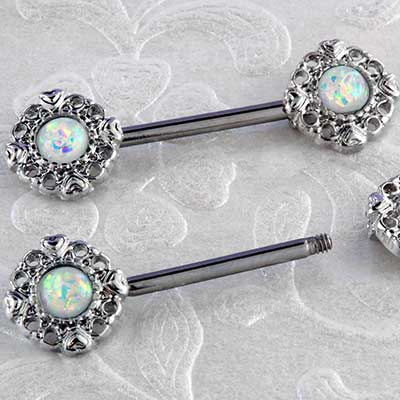 Vintage Opal Nipple Barbell