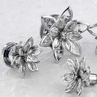 Crystal flower plug