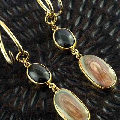 Solid brass with imperial jasper weights