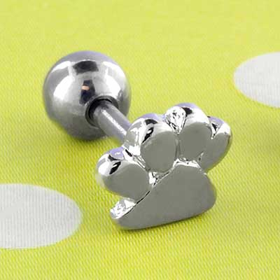 Paw print barbell