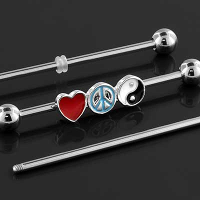 Peace and Love Industrial Barbell Set