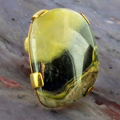 Brass and bumble bee jasper plugs