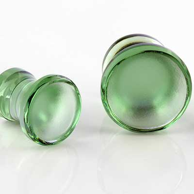 Glass Trumpet Plugs (Emerald)
