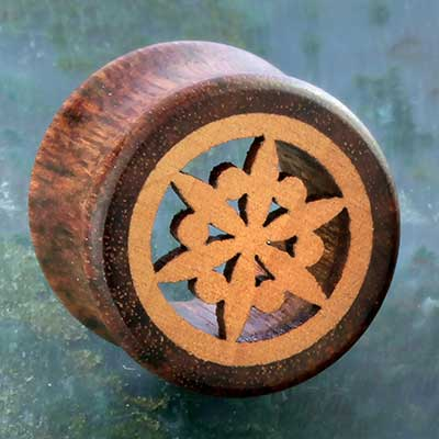 Chechen Wood Flower Plugs