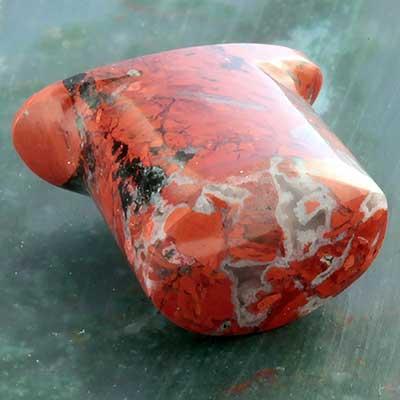 Red brecciated jasper labret