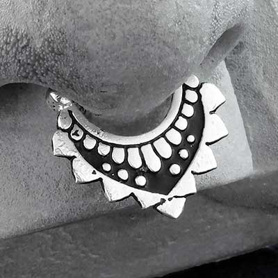 Silver Ancient Pyramid Septum Clicker