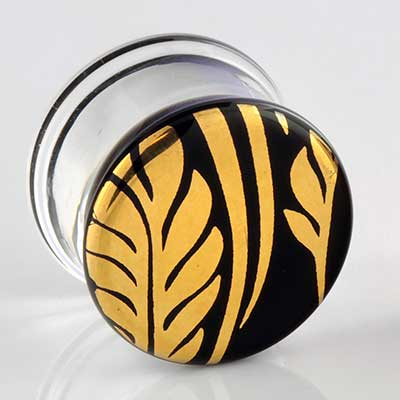 Pyrex Glass Colorfront Plugs (Flora and Fauna On Black)