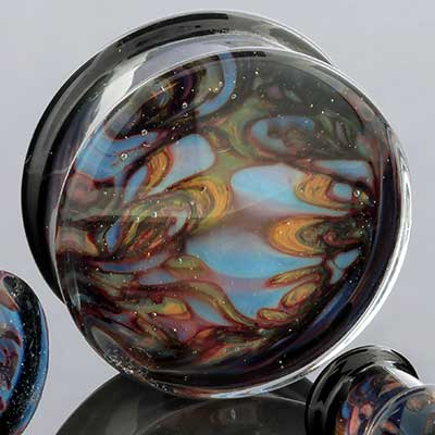 Glass Opaline Plugs (Boulder Opal)
