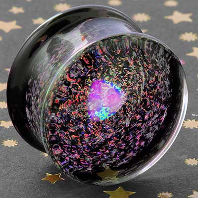 Raw opal galaxy plugs (Pink/Blue)