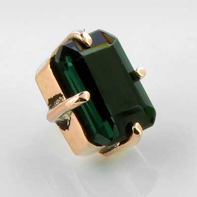 14k Gold Emerald Threaded End