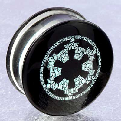 Glass image plugs (Silver dichroic gear)