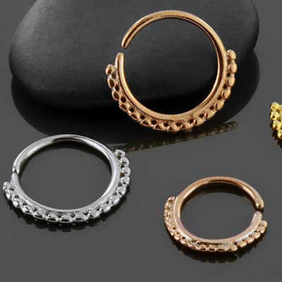 Beaded seamless septum ring