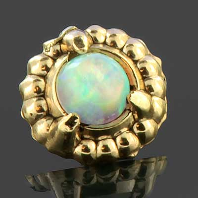 14K gold opal threaded end