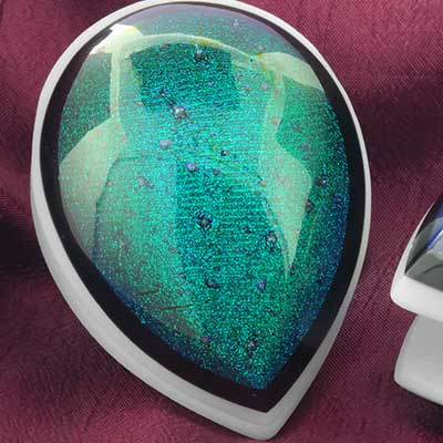Glass Dichroic Shield Weights (Aqua)