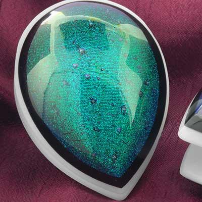 Glass dichroic shield weights (Aqua)