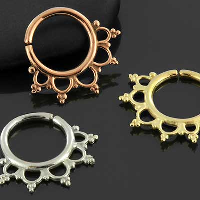 Anoora septum seamless ring