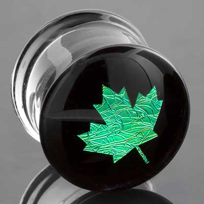 Glass Image Plugs (Maple Leaf)